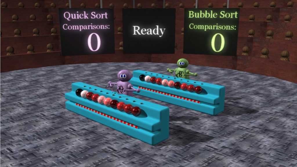 Quick sort vs bubble sort